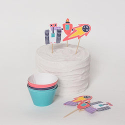 Space Theme Party Cupcake Kit