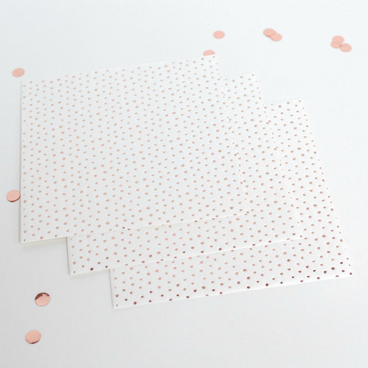 Spotty Rose Gold Party Napkins