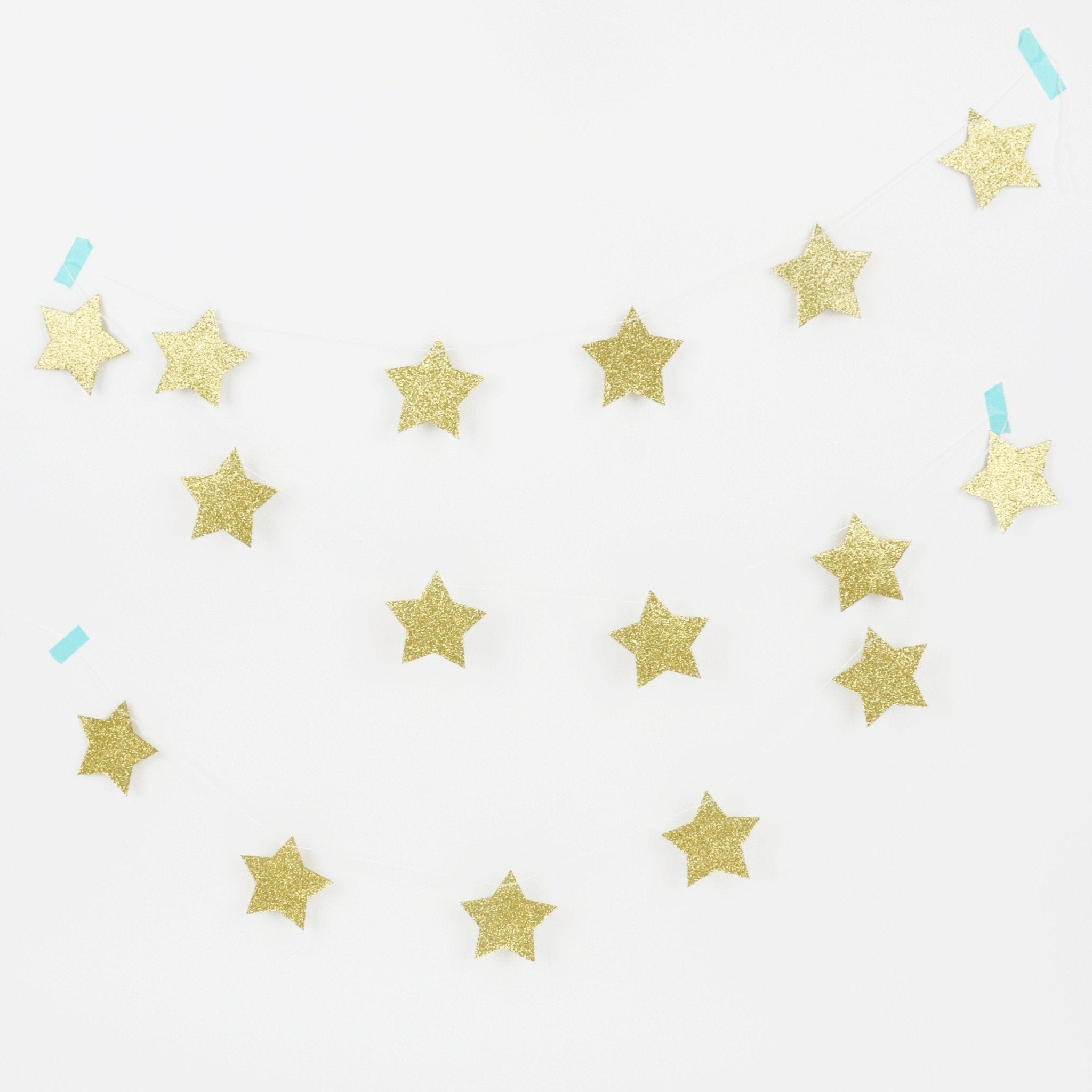Golden Party Garland bunting Stars