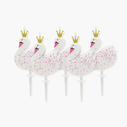 Swan Party Candles (6 Pack)