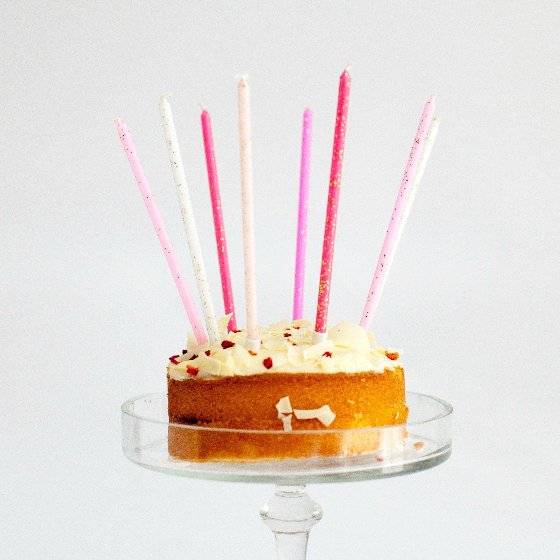Fine Tall Sparkling Candles Pink Candles For Birthday Cakes Mermeri Funny Birthday Cards Online Aboleapandamsfinfo