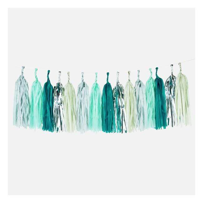 Tassel Garland | Green Paper Party Tassel Garland | Pretty Party Decor