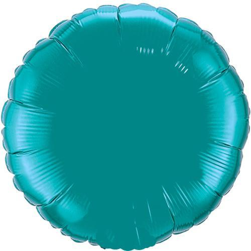 Teal Round Foil Birthday balloons Online