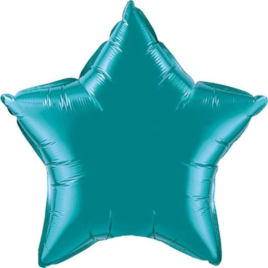 Teal Star Foil Balloon