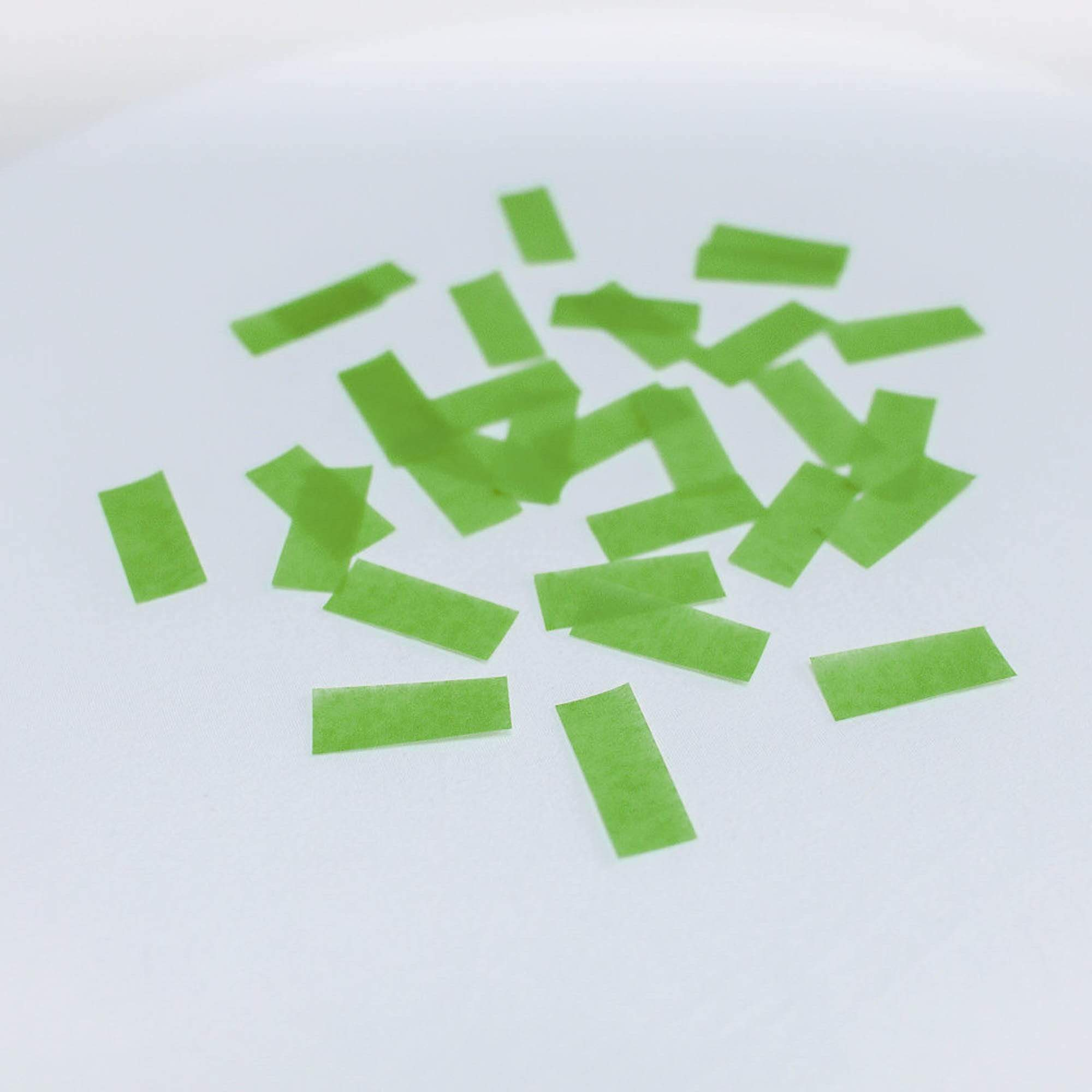 Lime Green Paper Throwing Confetti