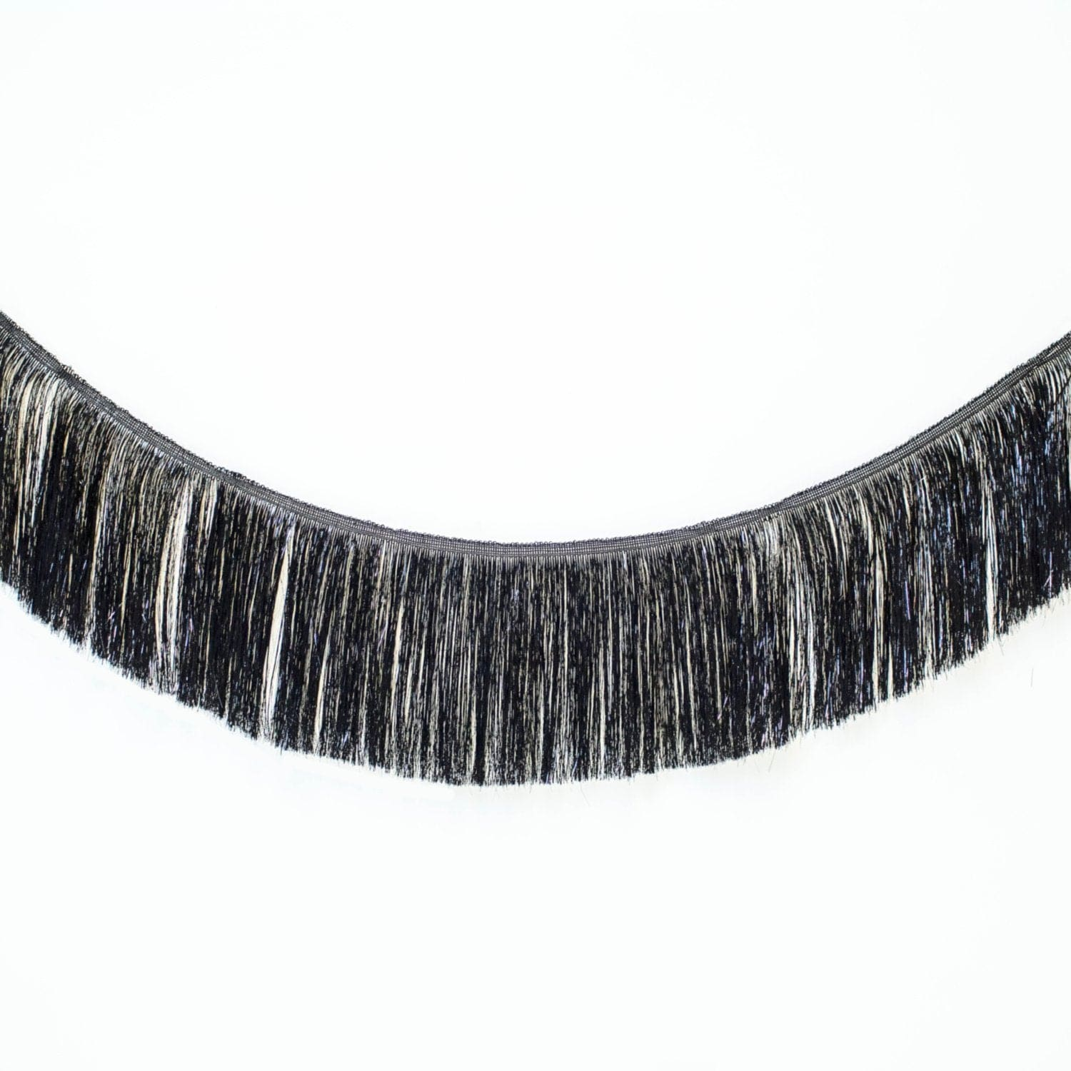 Tinsel Fringe Garland | Black Metallic Party Fringe UK