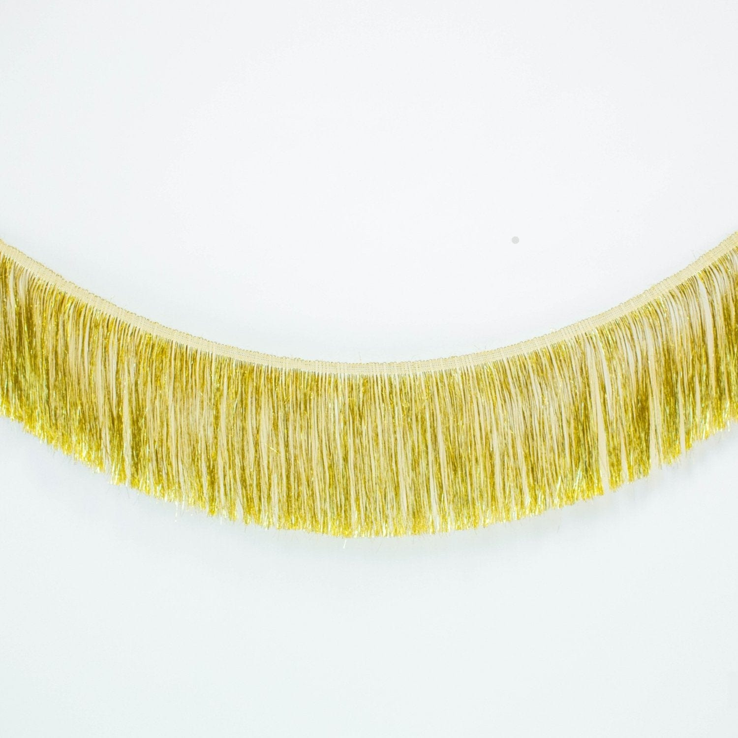 Tinsel Fringe Garland | Gold Metallic Party Fringe UK