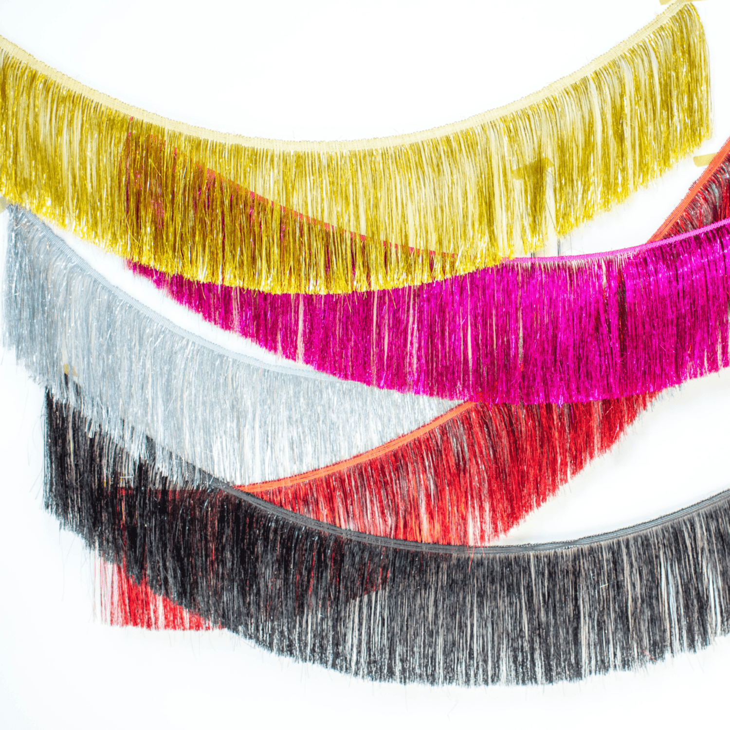 Tinsel Fringe Garland | Metallic Party Fringe UK
