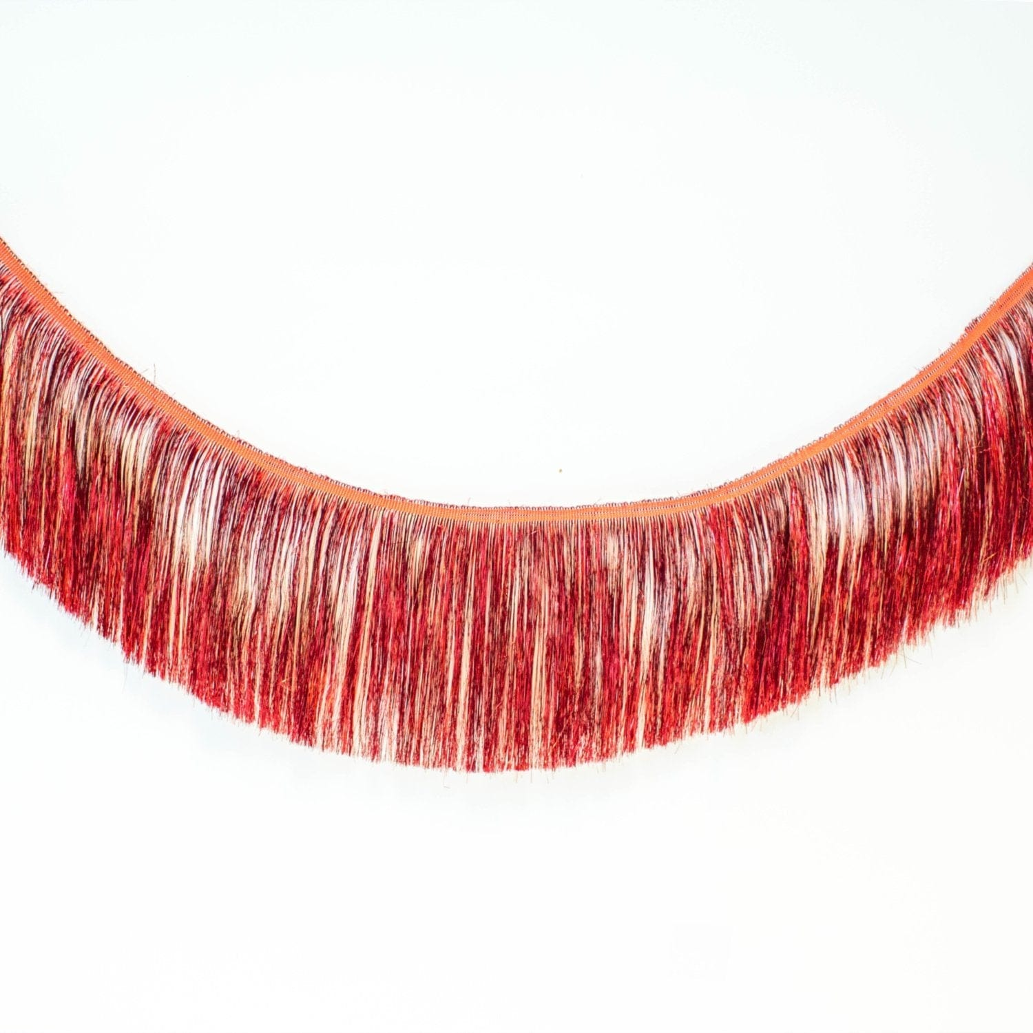 Tinsel Fringe Garland | Red Metallic Party Fringe UK