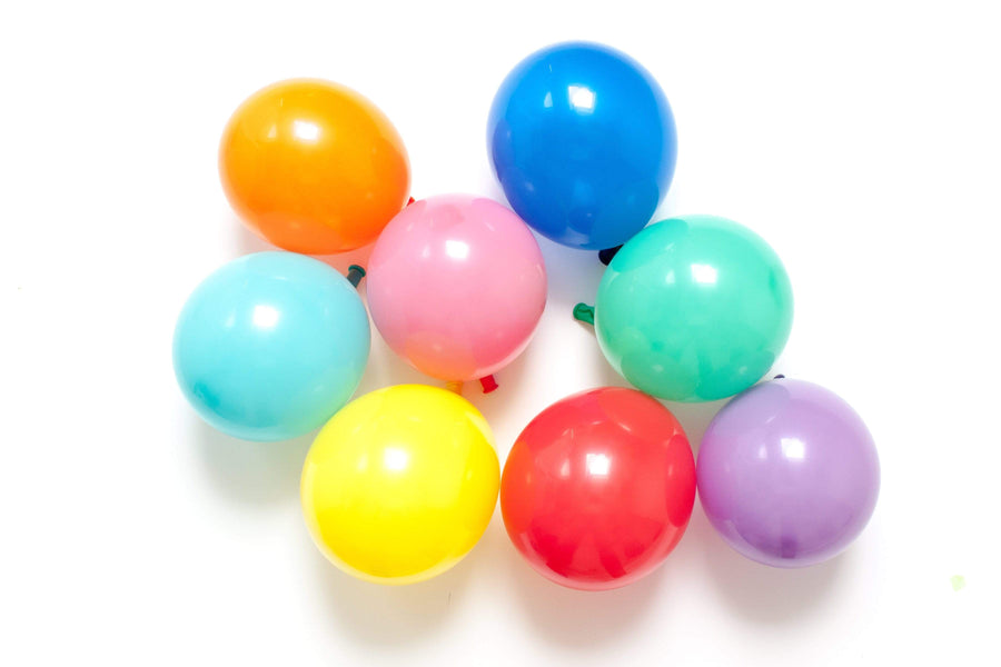 "Mini Balloons Rainbow Mix | 5"" Rainbow Latex Balloons Qualatex"