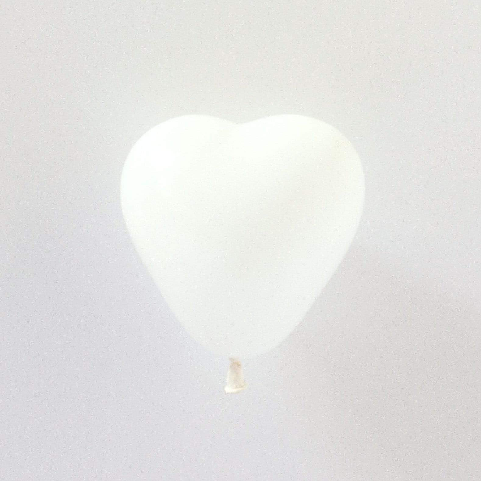 White Tiny Heart Balloons | Little Latex Heart Shaped Balloons