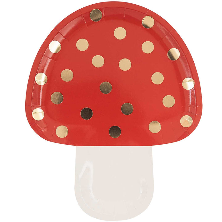 Toadstool Mushroom Party Plate | Woodland Party UK