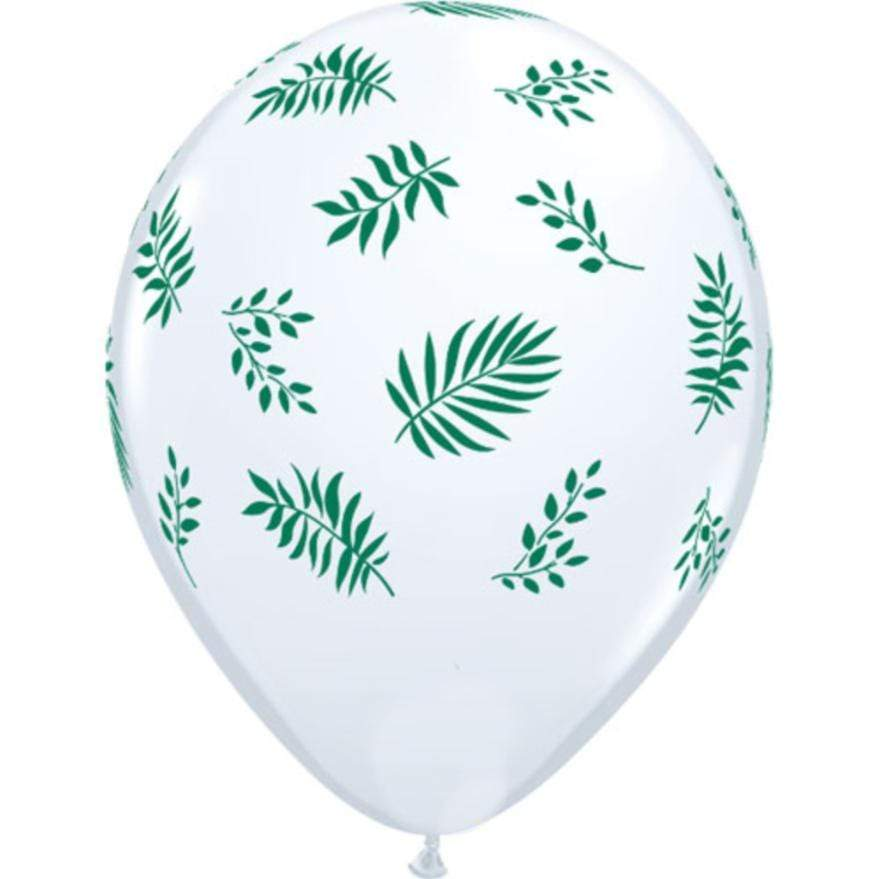 Tropical Greenery Balloons | Pretty Leaf Print Balloons | Qualatex UK