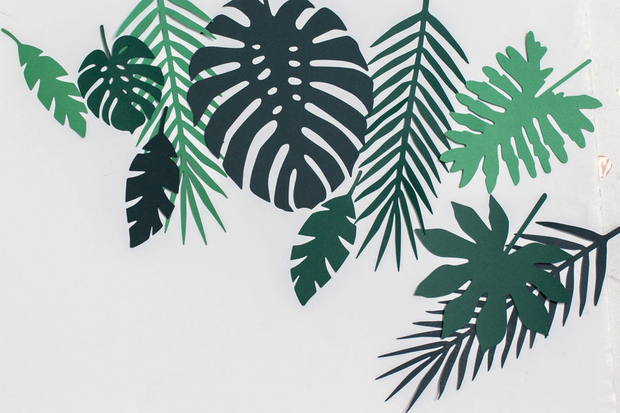 tropical Leaves paper Deorations