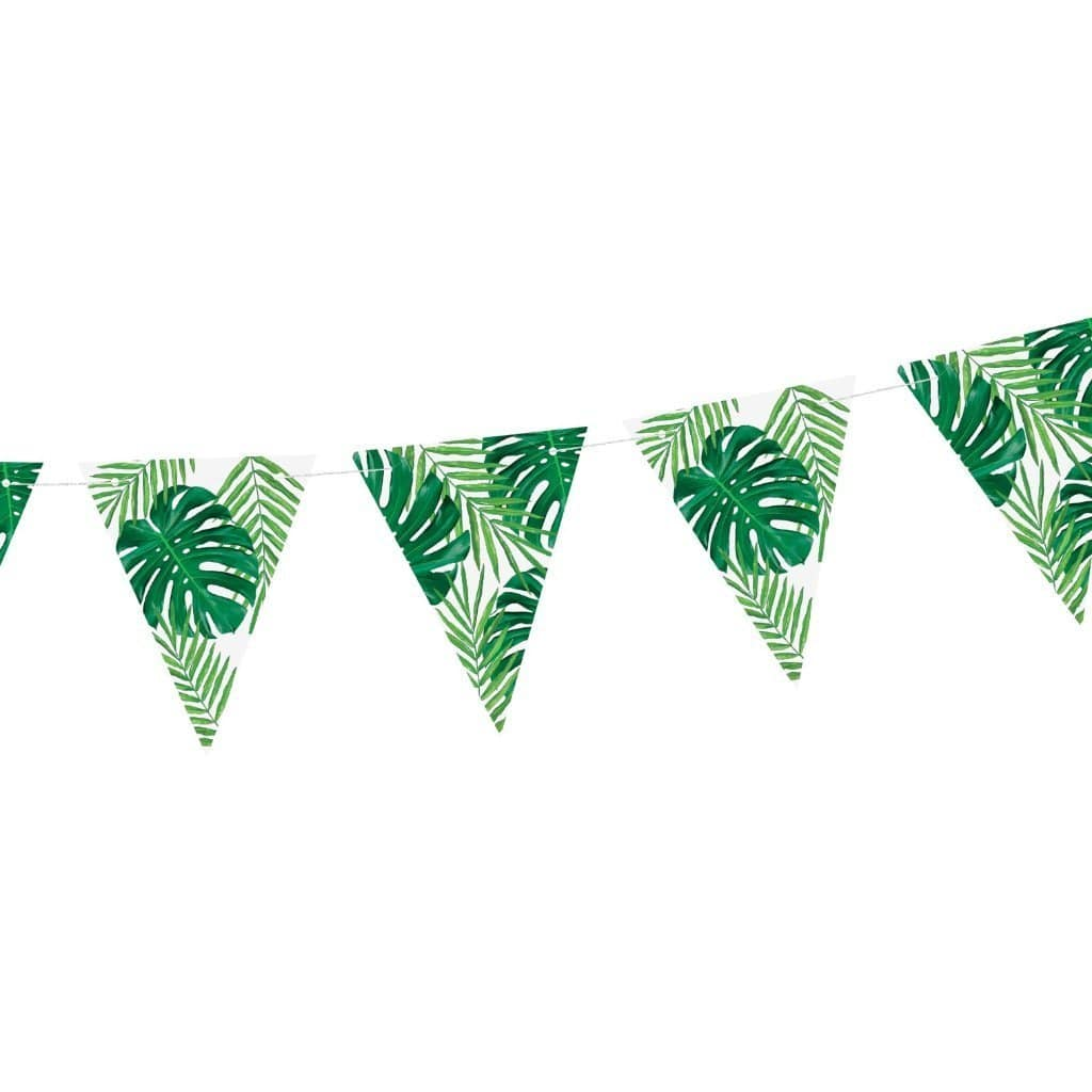 Tropical Party Bunting | Tropical Luau Party Decorations | Hawiian Party UK