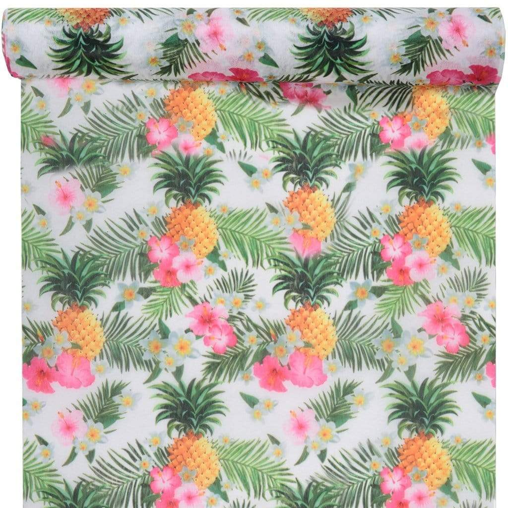 Tropical Pineapple Party Table Runner