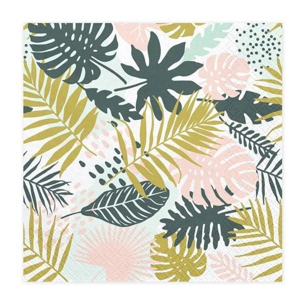 Tropical Leaves Party Napkins | Tropical Party Supplies & Decorations