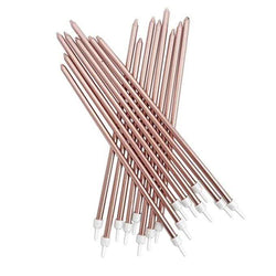 Ultra Long Cake Candles - Rose Gold (Pack of 16)
