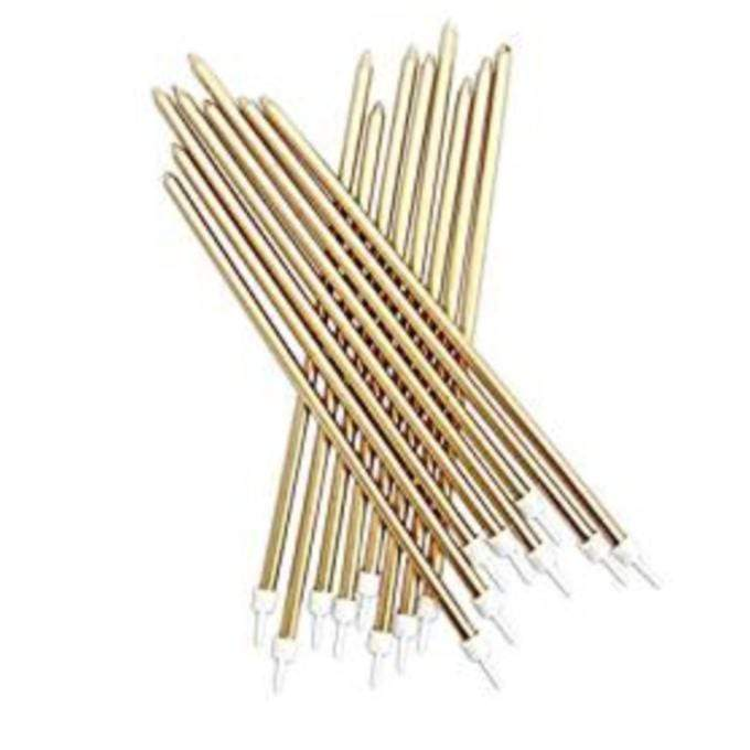 Ultra Long Candles - Gold (Pack of 16)