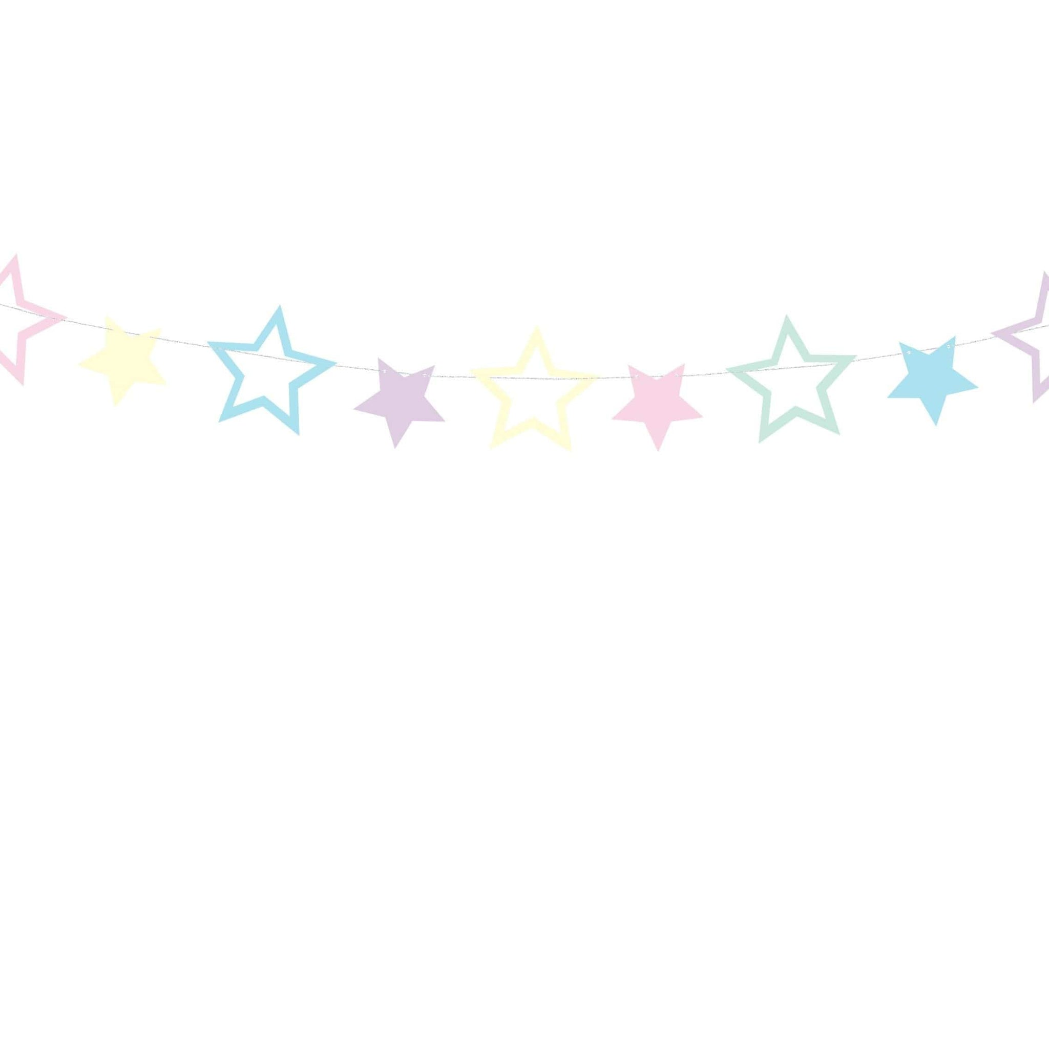 Unicorn party Garland - Stars