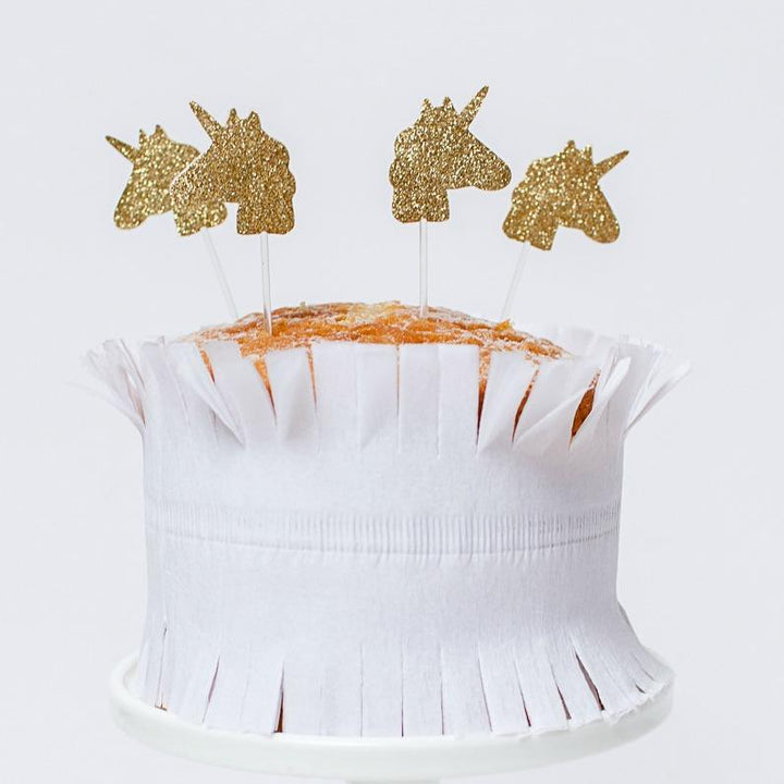 Unicorn Glitter Cupcake Toppers (Pack of 12)