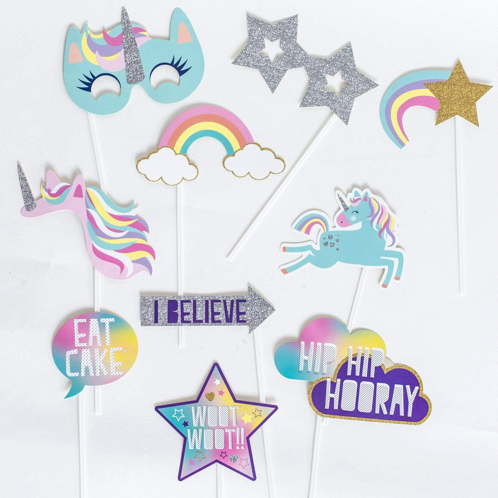 Unicorn Party Photo Props | Unicorn Party Ideas | Unicorn Party Supplies UK