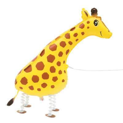 Walking Pet Giraffe balloon | Animal Shaped Foil Balloons | Novelty Party Balloons UK
