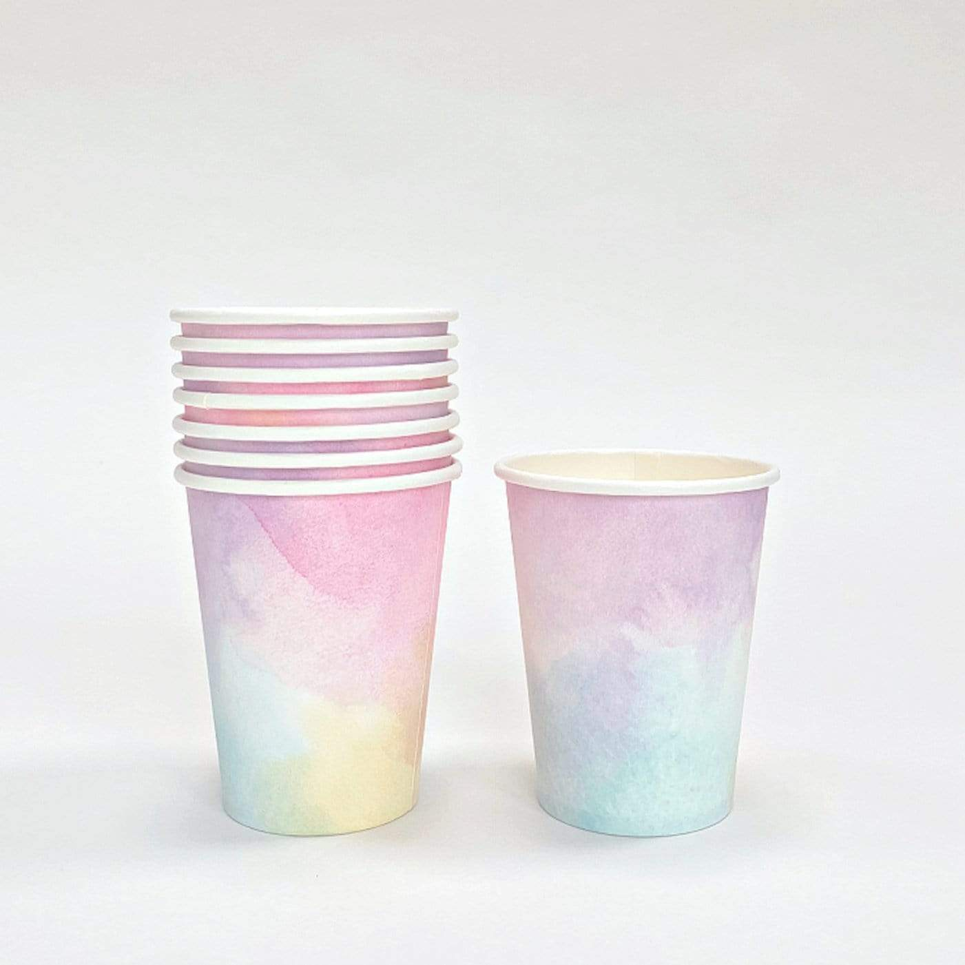 Watercolour Pastel Cups (8 Pack)