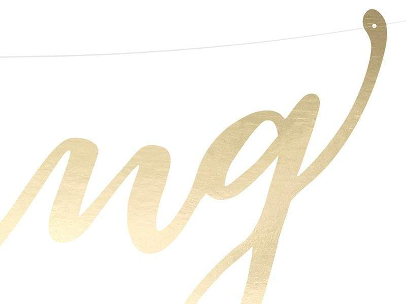Wedding Banner - Gold