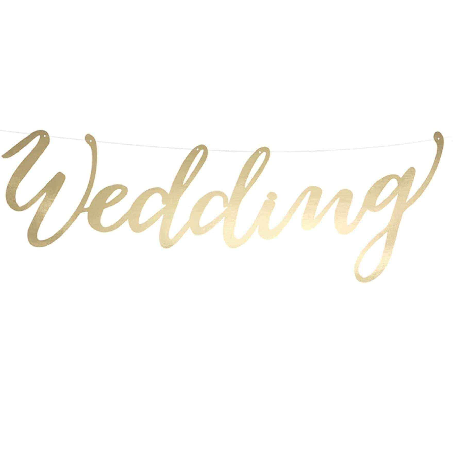 Gold Wedding Banner Garland Decoration