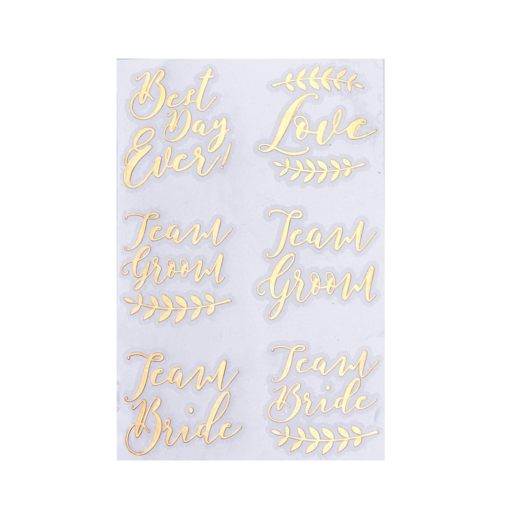 Rose gold Team Bride tattoos