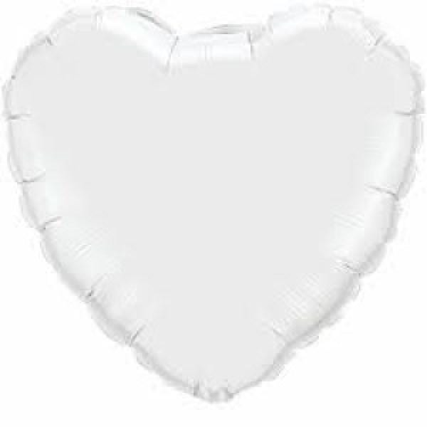 White Heart Foil Balloon - Modern Party Balloons UK