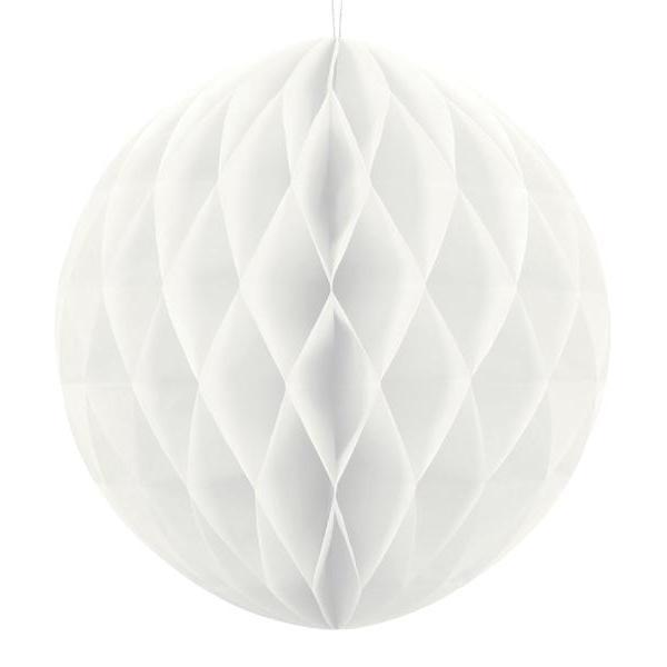 White Honeycomb Balls | Paper Honeycomb Decorations in all the Colours