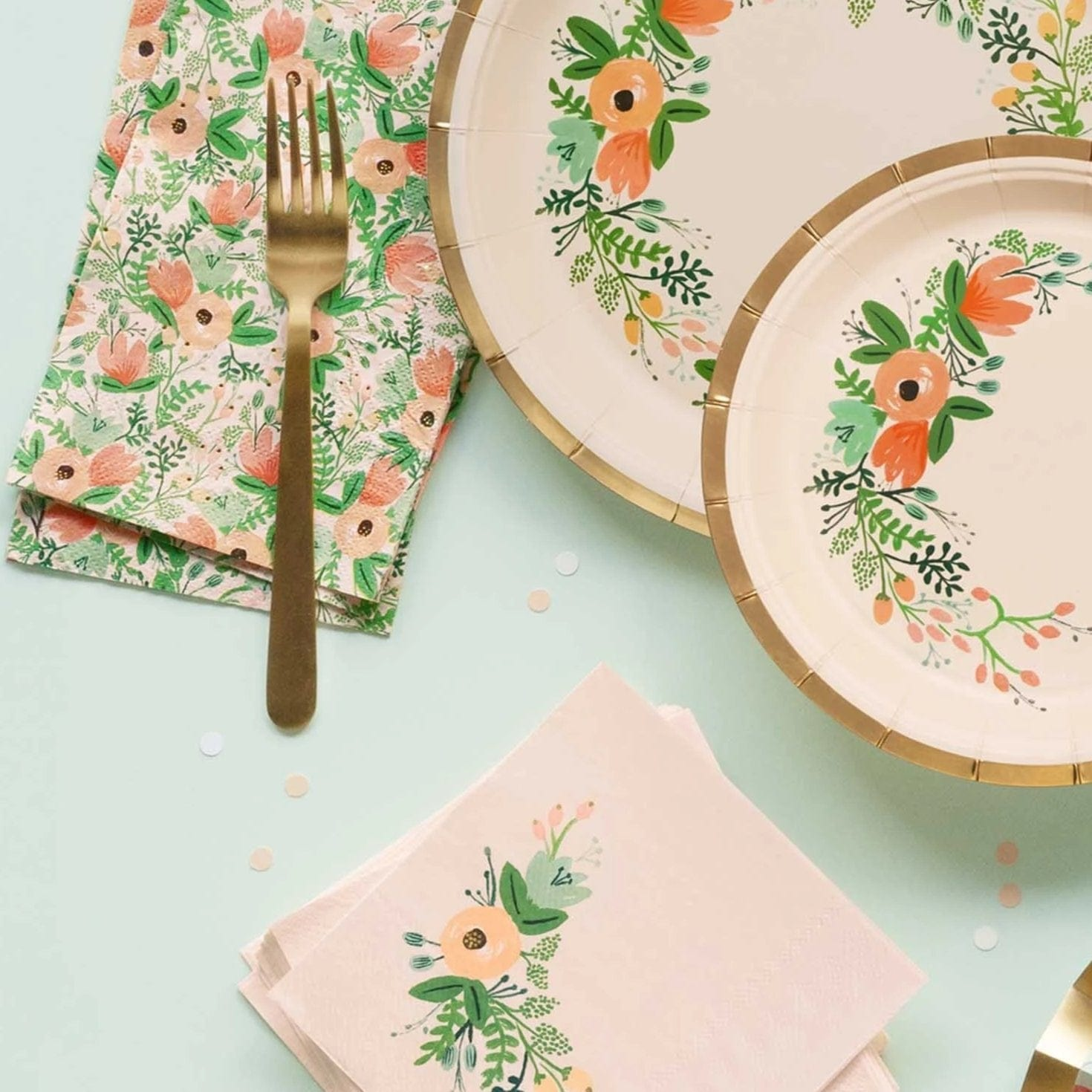 Wildflower Napkins | Rofle Paper Co Party Napkins UK