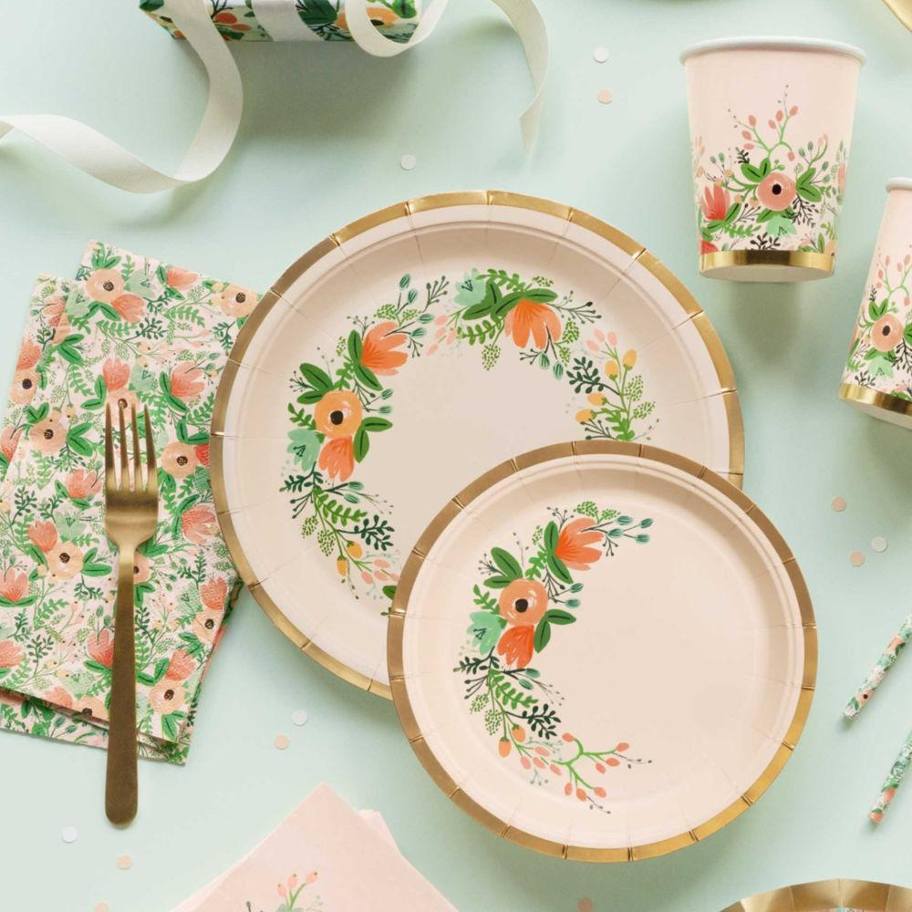 Rifle paper Co Wildflower Party Plates UK
