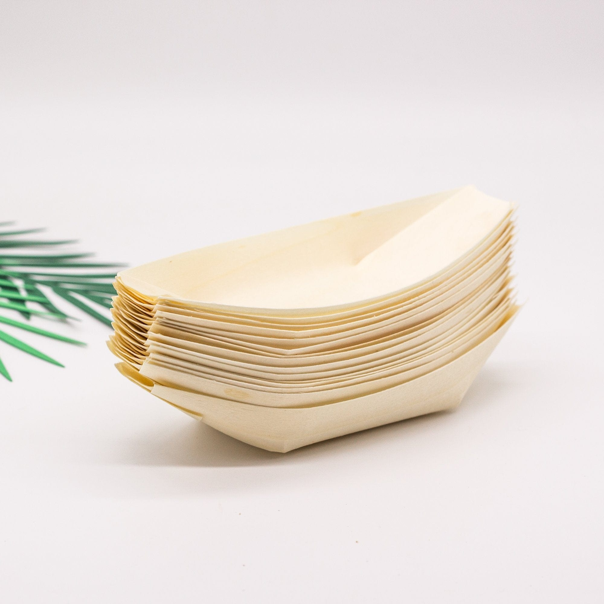 Wooden Canape Boats | Eco Biodegradable Party Supplies for Weddings and Events