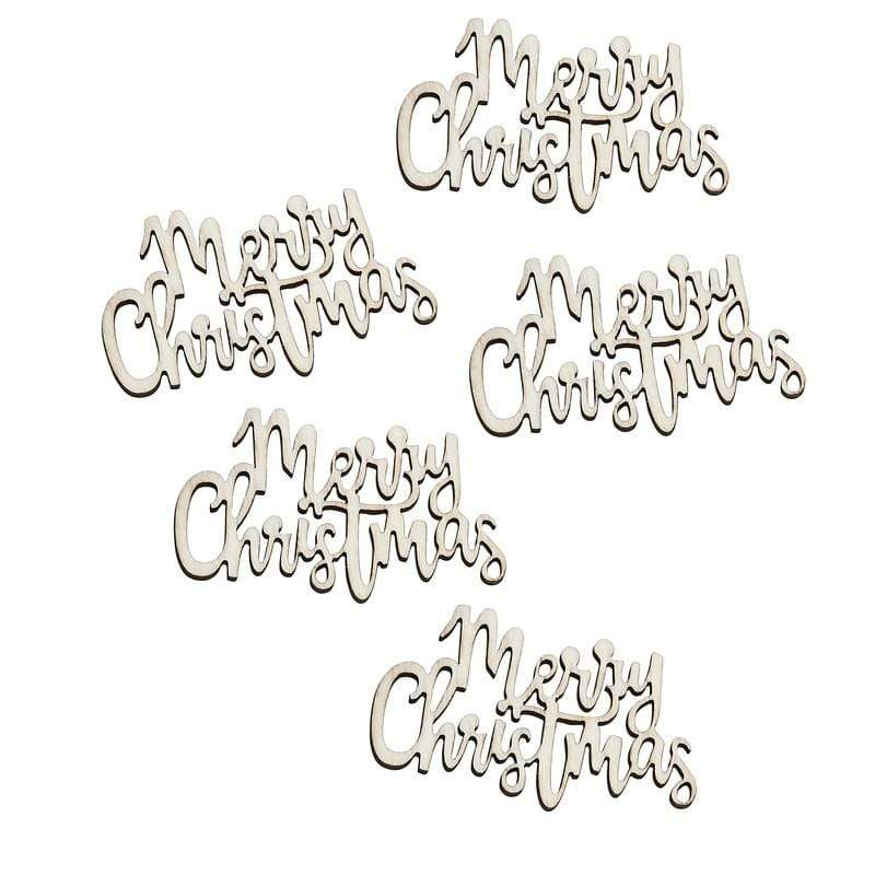 Wooden Christmas Table Confetti | Natural Eco Christmas Confetti