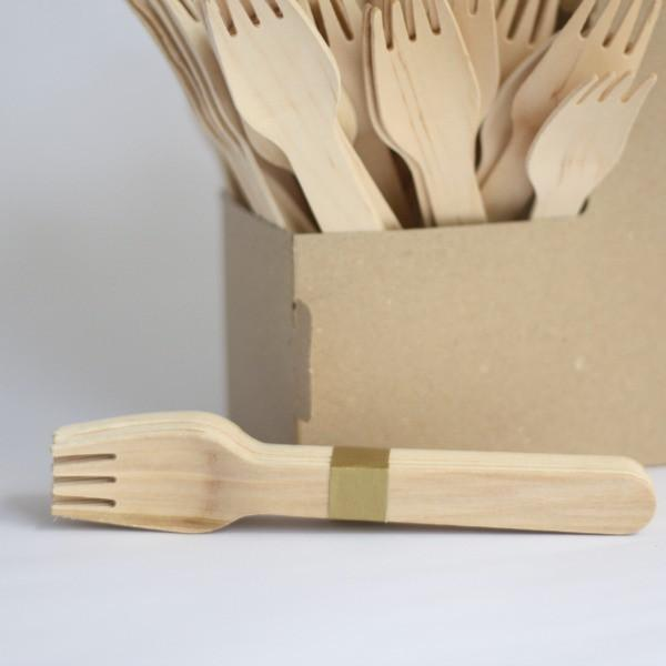 Wooden Forks | Disposable Cutlery | Natural Eco Party Supplies UK