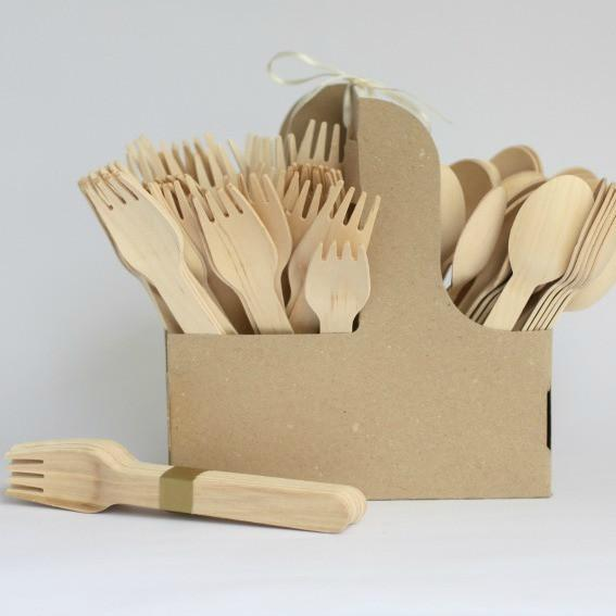 Wooden Knives | Disposable Cutlery | Natural Eco Party Supplies UK