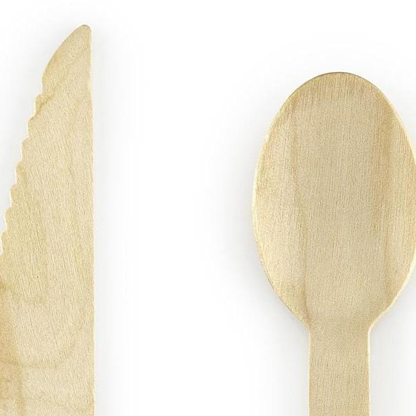 Wooden Disposable Cutlery | Natural wooden Cutlery Set for Parties