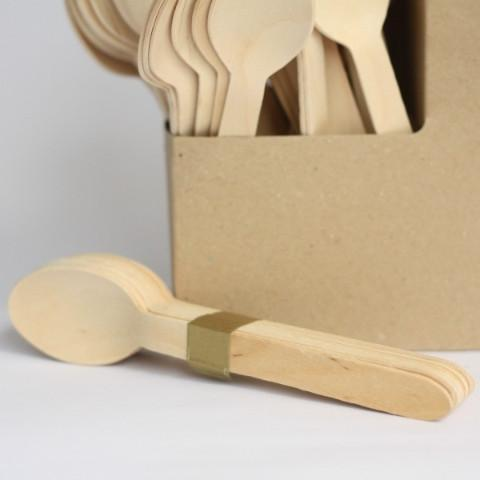 Wooden Spoons | Disposable Cutlery | Natural Eco Party Supplies UK