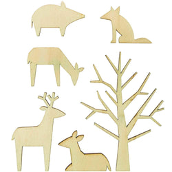 Woodland Animals Cake Toppers
