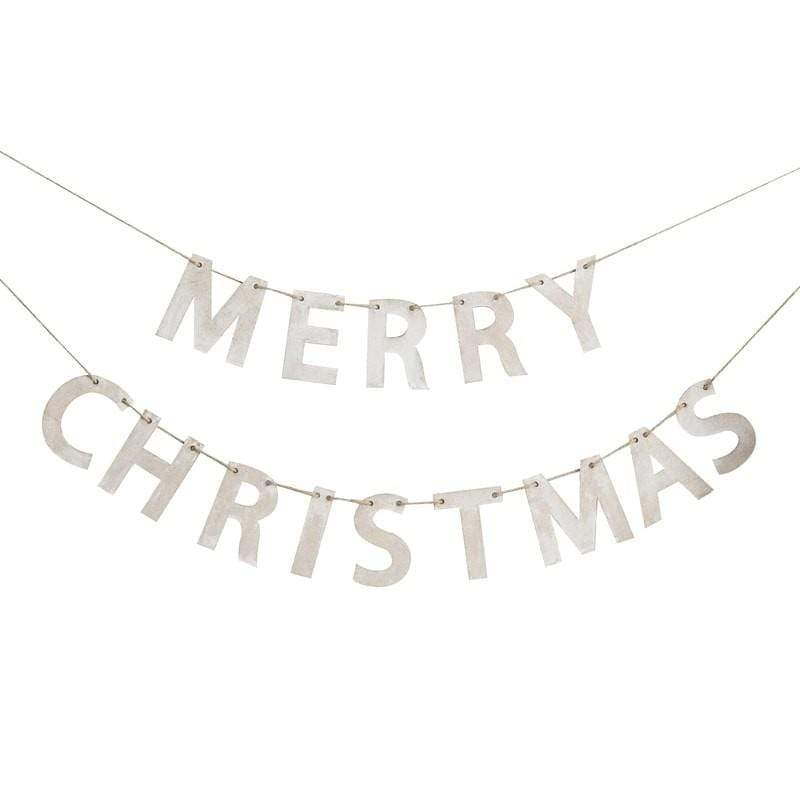 Merry Christmas Wooden Bunting