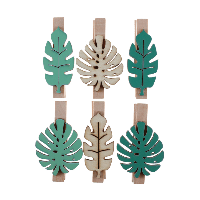 Wooden Pegs | Tropical Leaf Pegs