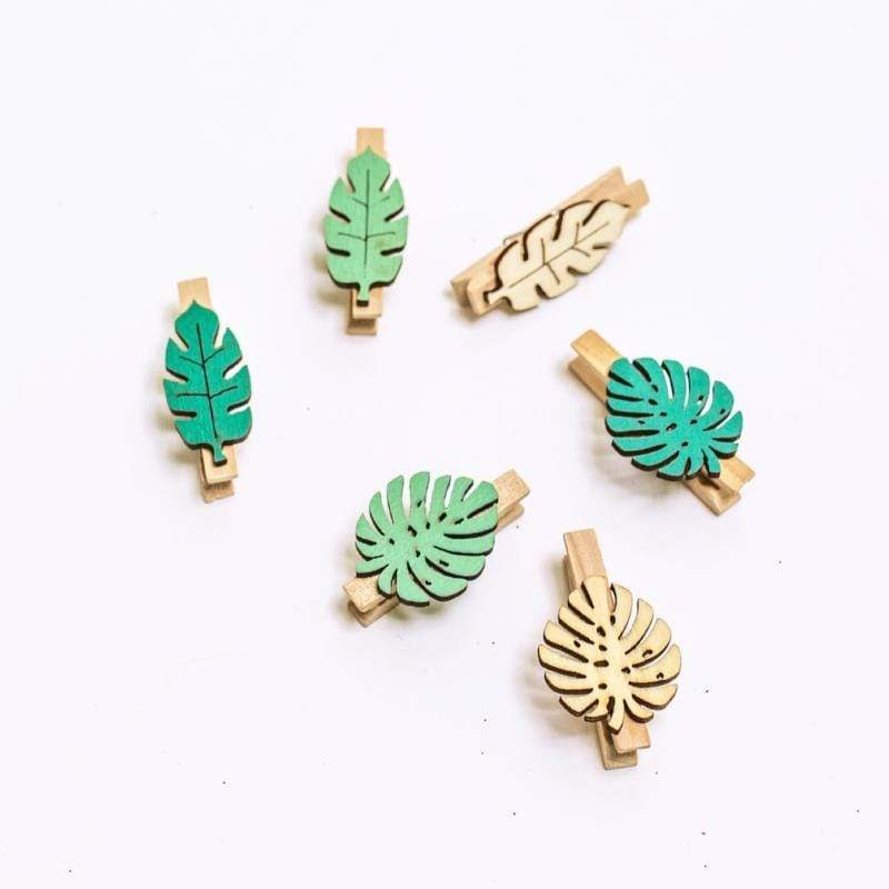 Tropical Leaf Pegs | Party Accessories
