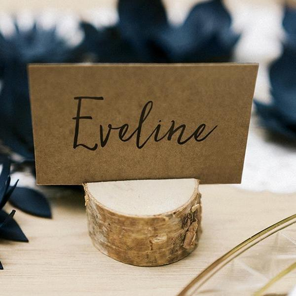 Wooden Place Card Holders | Wedding Table Decor | Rustic Theme Wedding