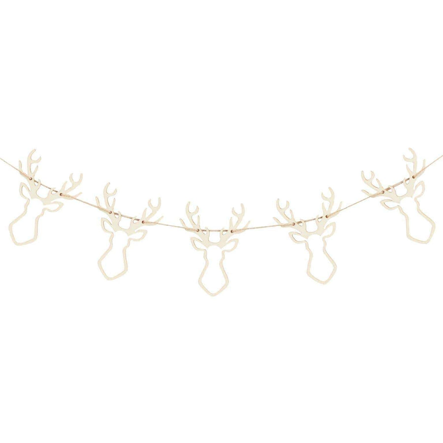 Wooden Stag Garland | Stylish Christmas Decorations UK