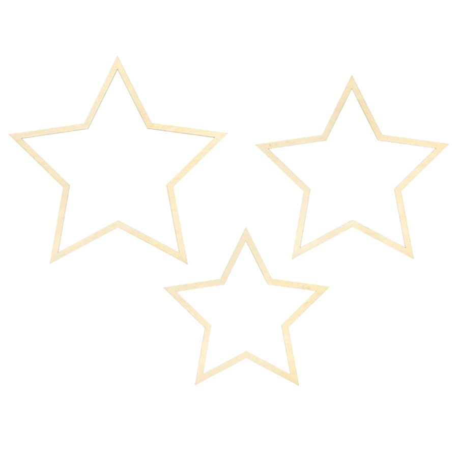 Wooden Star Christmas decorations | Scandi Styl;e Christmas Decorations