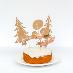 Woodland Party Cake Topper Set