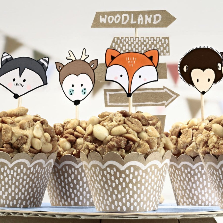 Woodland Party Cupcake Kit